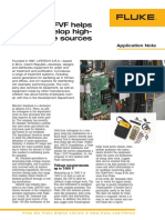 Fluke 289FVF helps to develop high voltage
