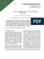 Crankshaft Failure Due to Fatigue—A