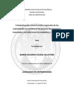 Criminalización y control social en San Juan Sacatepéquez