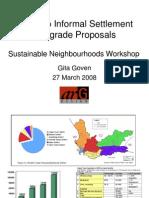 Kosovo Informal Settlement Upgrade Proposals