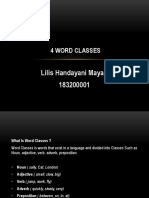 4 WORD CLASSES PPT