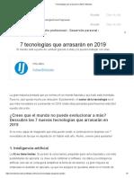 7 tecnologías que arrasarán en 2019 _ InfoJobs