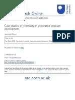 Roy. R 1996. Innovative Product Development