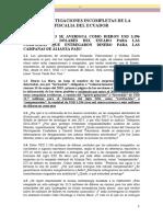 LAS INVESTIGACIONES INCOMPLETAS DE LA FISCALIA DEL ECUADOR