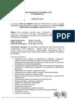 Certificación Parex