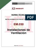Norma EM.030 - Instalaciones de Ventilacion
