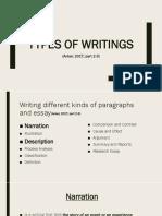 Week 11 - Types of Writing (Narration + Description).pptx