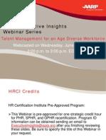 Aarp Talent Management Webinar 06-23-10