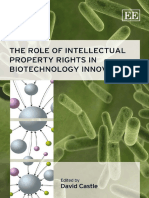 David Castle - The Role of Intellectual Property Rights in Biotechnology Innovation (2011).pdf