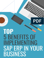 Top 5 Benefits of Implementing SAP ERP in Your Business