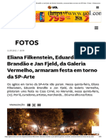Eliana Filkenstein, Eduardo Brandão e Jan Fjeld, da Galeria Vermelho, armaram festa em torno da SP-Arte – Fotos – Glamurama