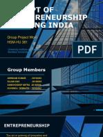 CONCEPT OF ENTERPRENEURSHIP IN RISING INDIA