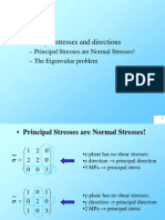 Eigenvalue Principal Stress