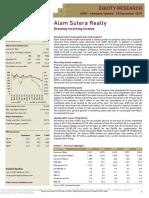 20191220 Ciptadana Sekuritas ASRI - Growing recurring income
