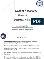 Manufacturing Processes Ch.6 (20) Sheet Metal Working