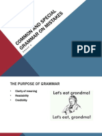 Common and Special Problems on Grammar_ English 103 Intensive Grammar_ TTH 1030 12am