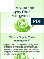 Green and Sustainable Scm