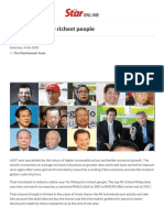 Malaysia's 40 richest people