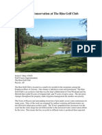 Water Conservation at The Rim Golf Club