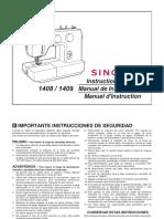 Máquina de coser Singer 1408-1409