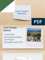 Teori Tempat Sentral (Geografi)