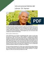 El conflicto emocional detrás del cáncer-Hammer