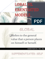 Global vs. Differentiated Models & Real and Ideal Self Concepts