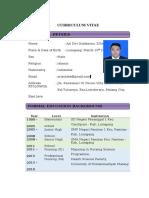 contoh penulisan CV