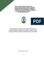 Tabla de Organización y Equipo del Batallón de Ingenieros de Combate en apoyo zodi