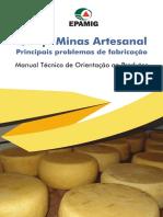 Queijo Minas Artesanal - Principais problemas