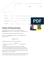 Discontinuities  abc