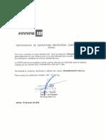 Certificado cabina