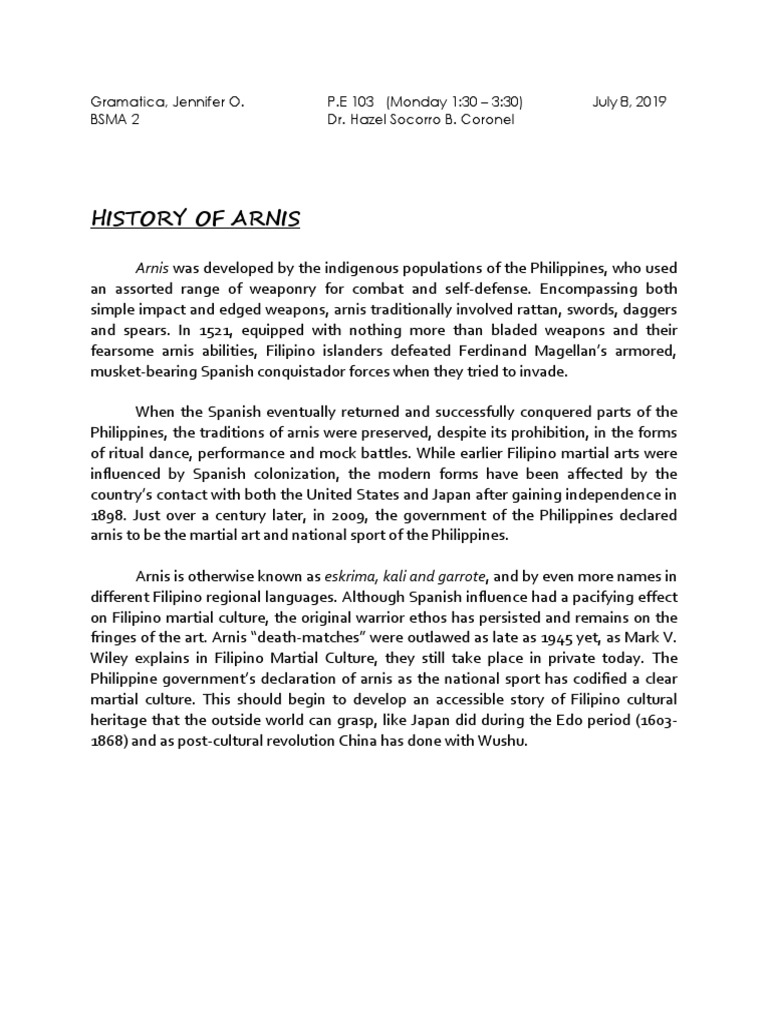 Arnis Philippines Sports