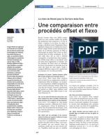 Comparaison entre procédés Offset et flexo