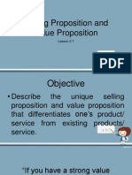 Selling Proposition and Value Proposition