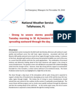 NWS Briefing for November 30