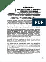 BIENVENIDA A CONVERSATORIO DE CENAJUPE CON CANDIDATOS A CONGRESO DE LA REPUBLICA