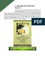 Alquimistas del siglo XiX