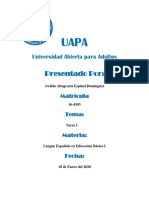 Tarea #1 - Lengua Española en Educación Básica I
