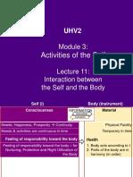 UHV2 M3 L11 - Interaction bet Self & Body