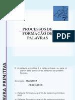 PROCESSOS DE FORMAÇÃO DE PALAVRAS