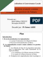4 - La régionalisation avancée comme solution à la question - FINALISE.pptx