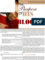 4; The Purpose of His Blood Pt 1