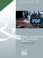 Charte européenne de l'autonomie locale et rapport explicatif