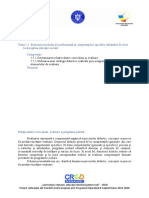 Tema 2.5. Evaluarea Nivelului de Performanță Al Competențelor Specifice Dobândite de Elevi La Disciplina Educaţie Socială