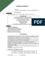 SESIÓN DE TUTORÍA N° 1 - 2019