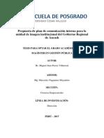 propuesta de plan de comunicacion interna para la unidad de imagen institucional del gobierno regional de ancash