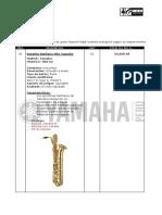 Cotización Saxofón Baritono Yamaha YBS 62 - Sr. Herrera