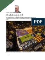 Manuel Toscano  Deobediencia incivil