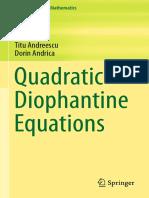 Quadratictis Diophantine Equations